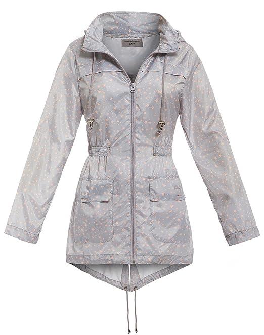 SS7 - Abrigo impermeable - Parka - para mujer gris Grey Star 42: Amazon.es: Ropa y accesorios