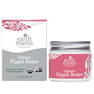 Organic Nipple Butter Breastfeeding Cream by Earth Mama   Lanolin-free, Safe for Nursing & Dry Skin, Non-GMO Project Verified, 2-Fluid Ounce (Packaging May Vary)