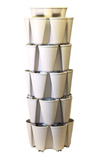 STONE GreenStalk Large 5 Tier Vertical Garden Planter With Patented  Internal Watering System Great For Growing