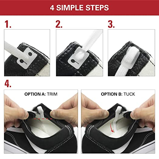 5199f256aeda16 Amazon.com  No Tie Shoelace Locks - Lace Anchors 2.0 - Never Tie Your Shoes  Again(Completes 2 pairs of shoes)  Health   Personal Care