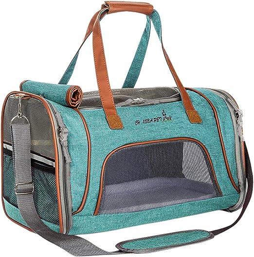 TAAMBAB Transportín para Perros y Gatos Aprobado por la Aerolínea - Portador Bolsa de Transporte para Gatos Ligero Plegable Animales Pequeños: Amazon.es: Productos para mascotas