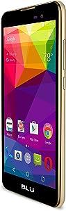 "BLU Dash M - 5.0"" Smartphone - US GSM Unlocked - Gold"