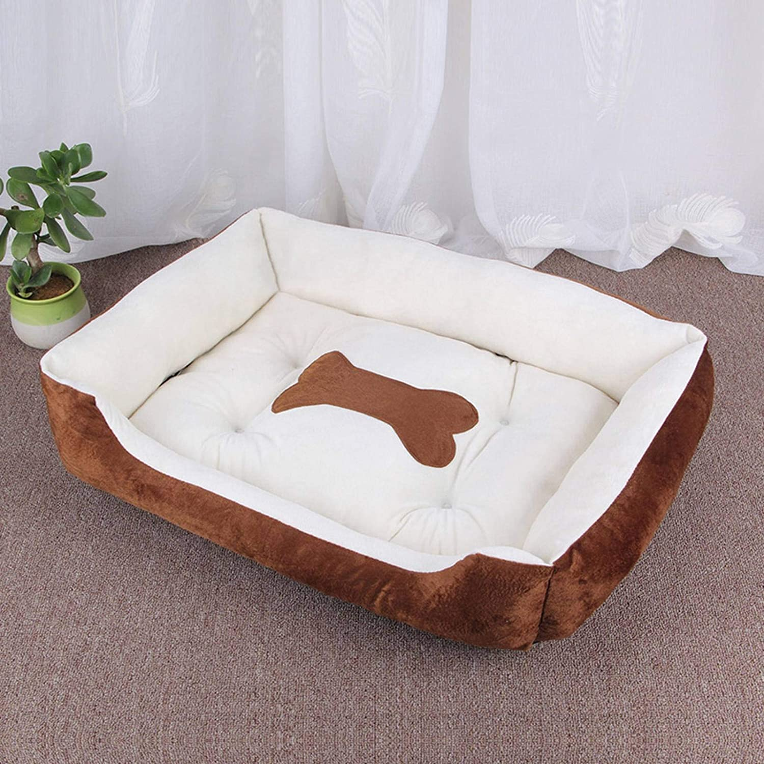 N-B Pet Bed Warm Pet Supplies For Small, Medium and Large Dogs Soft Pet Bed For Dogs Washable House For Cats and Dogs Cotton Kennel Mat