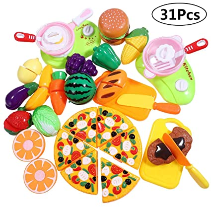 Atv,rv,boat & Other Vehicle Accessories 22 Pcs Food Sliceable Fruit Vegetable Cutting Kids Pretend Play Educational Kitchen Cooking House Toy Safe Learning Resources