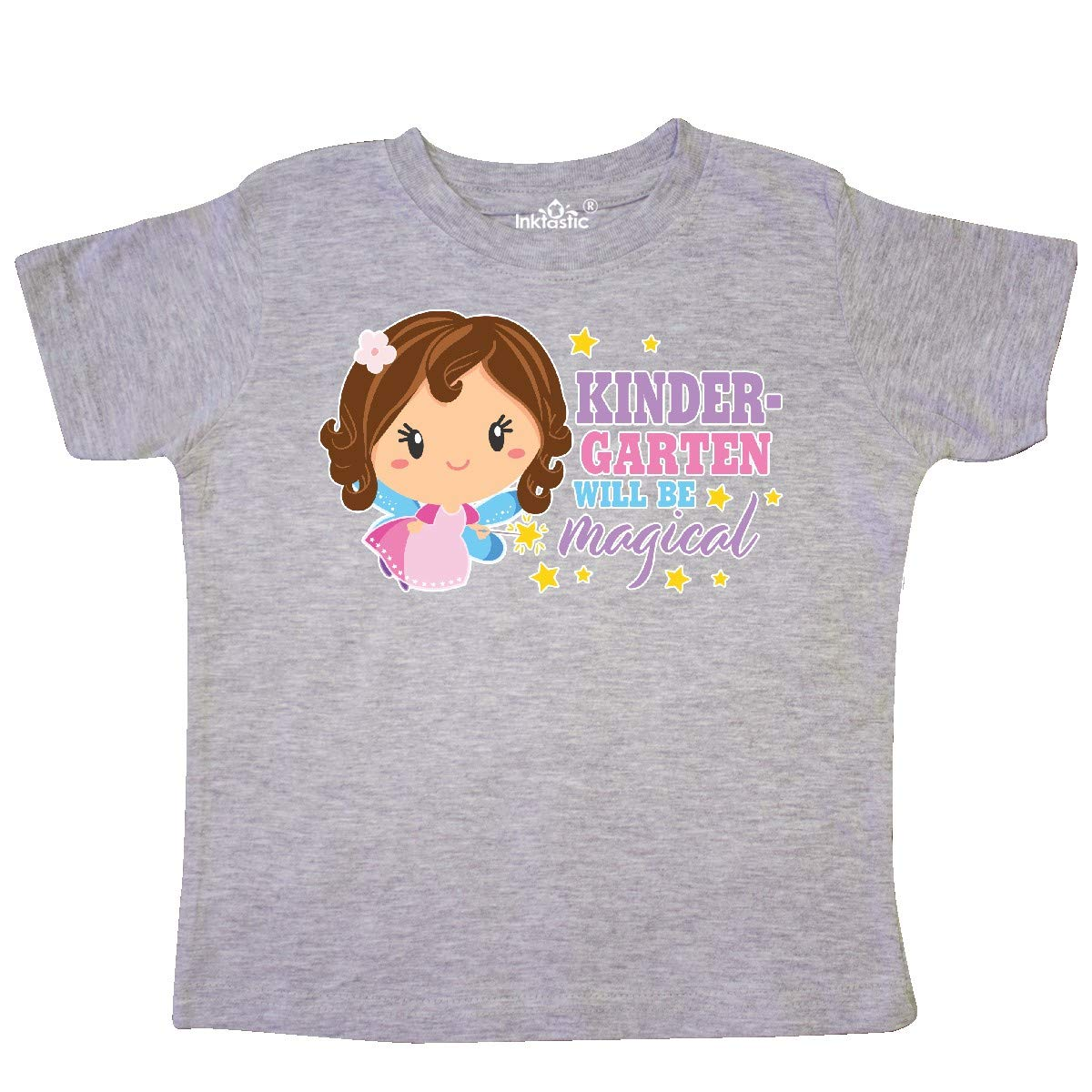 inktastic Kindergarten Will Be Magical with Brown Haired Fairy Toddler T-Shirt