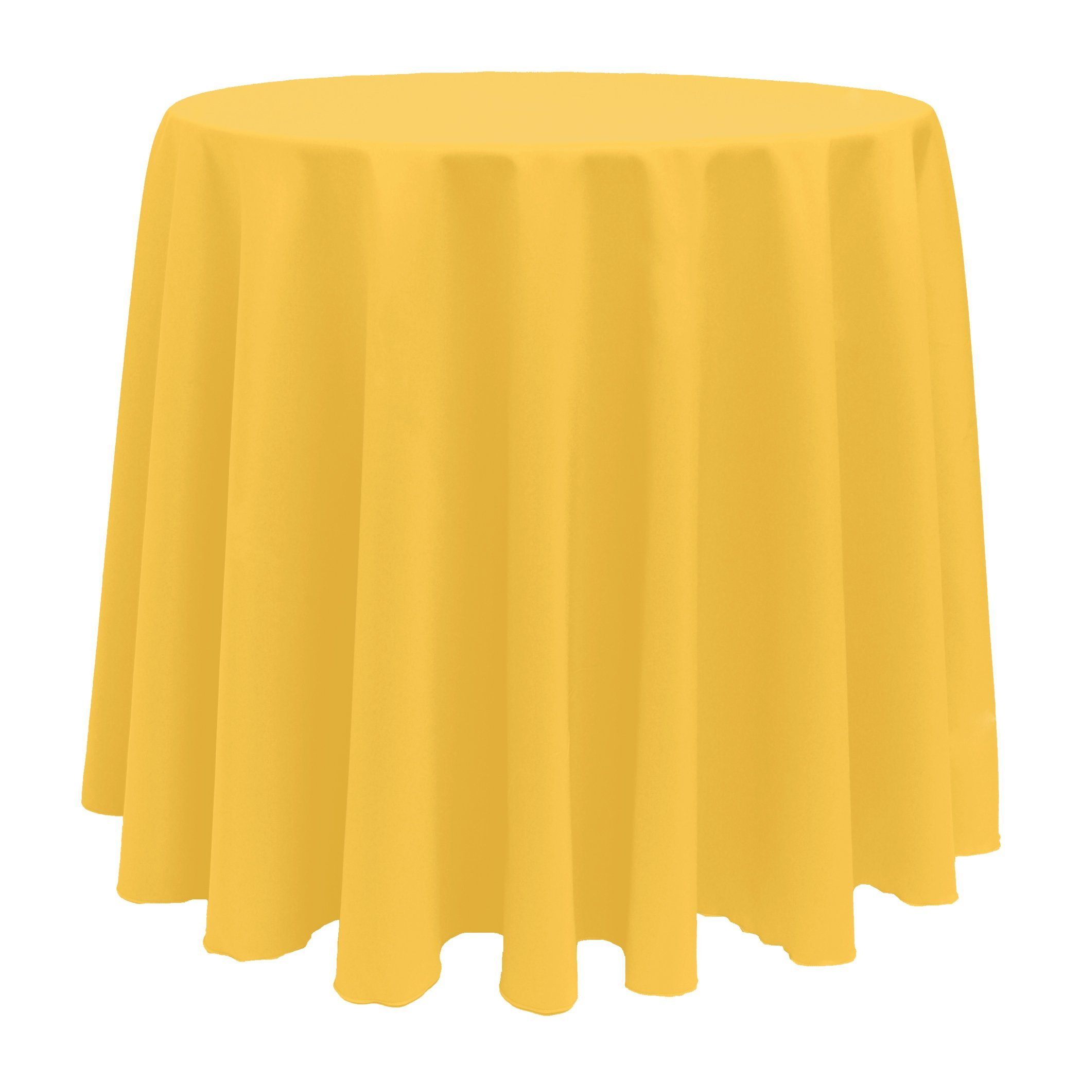 Ultimate Textile (10 Pack) 90-Inch Round Polyester Linen Tablecloth - for Wedding, Restaurant or Banquet use, Goldenrod