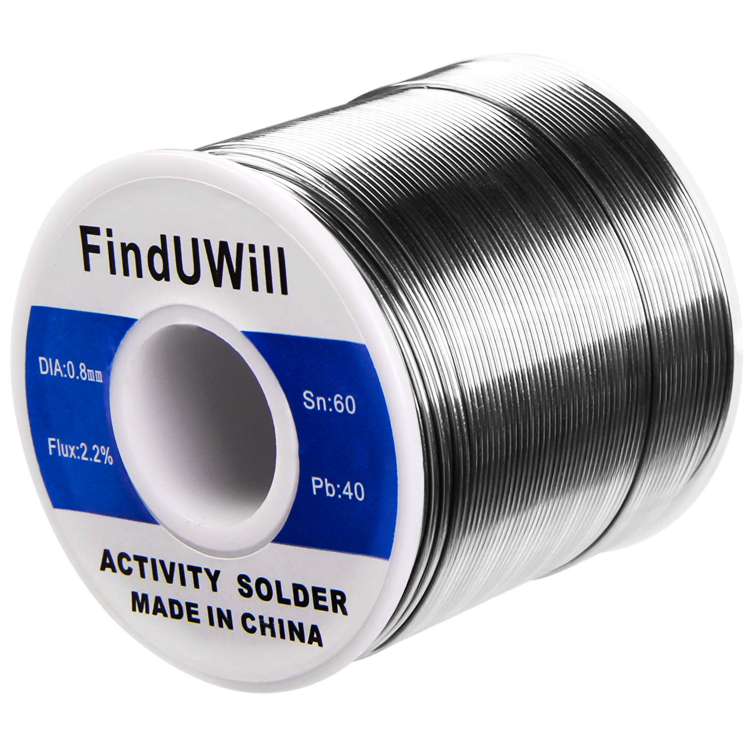 FindUWill Solder Roll, 60/40 Alloy, 0.031'' Diameter,44'', 1.5'', 1 lb, Tin Lead Solder Wire with Rosin for Electrical Soldering (0.031inch/0.8mm-1lb)