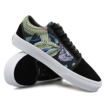 Illustration Art Animals Cute Birds Flowers Nature Women Casual Shoes Sneakers Flat Lo-Top Print Vegan