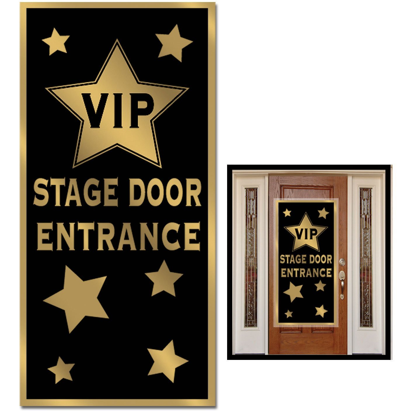 Amazon.com VIP Stage Door Entrance Door Cover Party Accessory (1 count) (1/Pkg) Kitchen \u0026 Dining  sc 1 st  Amazon.com & Amazon.com: VIP Stage Door Entrance Door Cover Party Accessory (1 ...