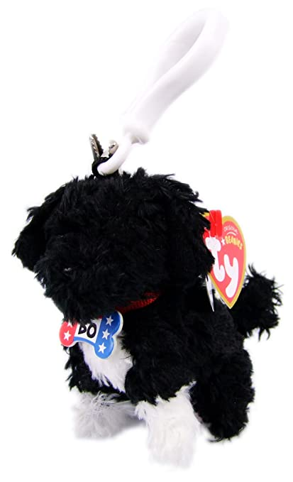 2269f3d0a16 Image Unavailable. Image not available for. Color  Ty Beanie Babies Bo - Portuguese  Water Dog Clip Red