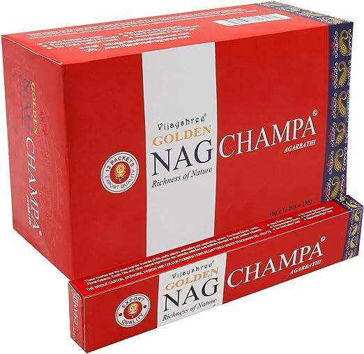 YesMandala 12 Cajas de Incienso Golden Nag Champa,180 Varillas el ...