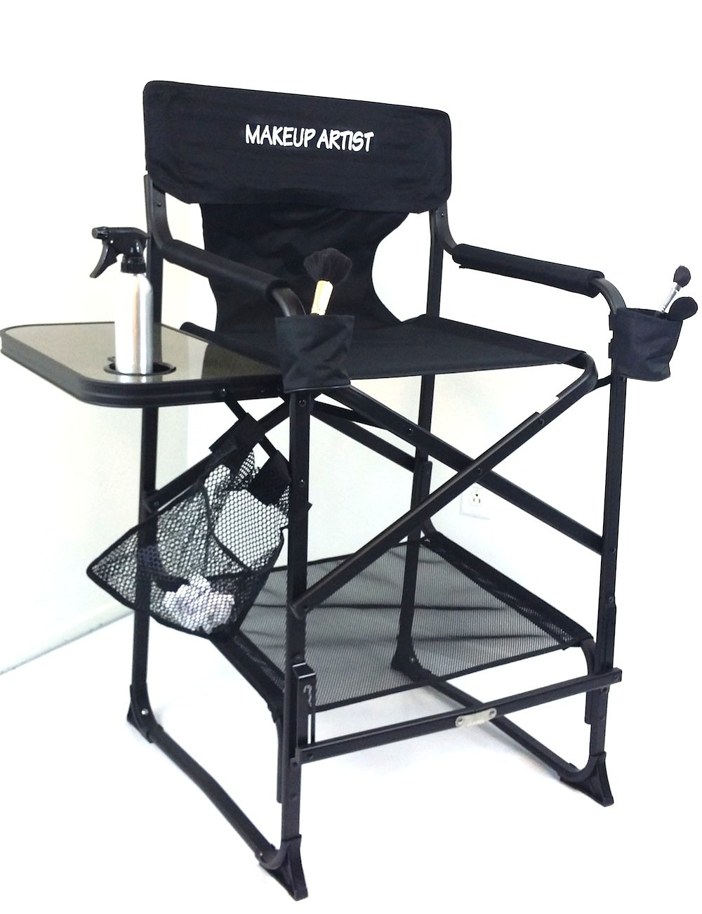 TUSCANYPRO MakeUp Artist ''Big Daddy'' HEAVY DUTY Tall PRO Chair-10 Years Warranty PRODUCT-A BONUS MAKE UP CASE INCLUDED WITH YOUR CHAIR!!!BIGGER,WIDER AND BETTER..350 Lb Max Weight Cap. by Oasis