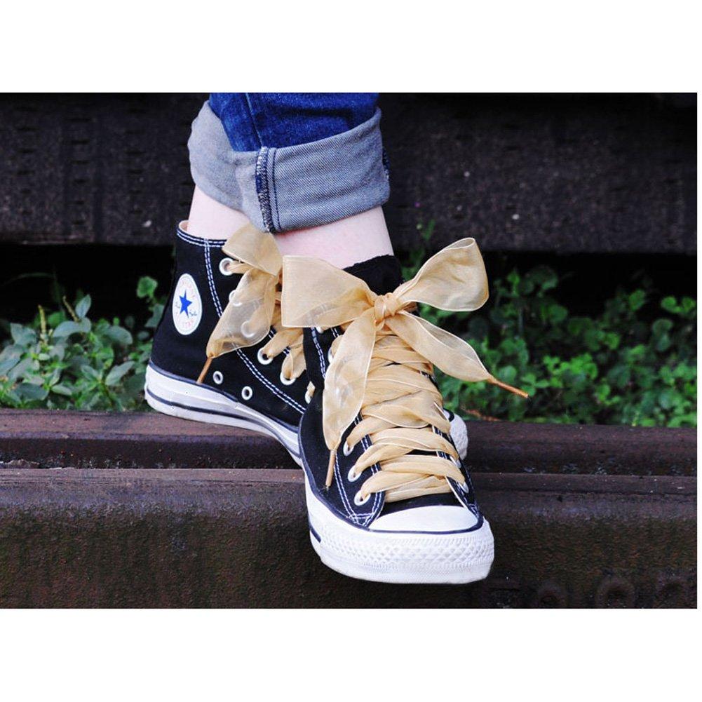 GZHOUSE 5 Paia Pizzo Lacci per scarpe organza nastro scarpe sportive ... ebdd45da787