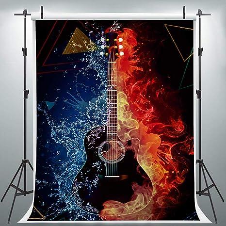 HXLU139 - Telón de Fondo para Guitarra de Quema para fotografía ...