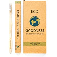 Eco Goodness Bamboo Toothbrush with Nylon Bristles 4 Pack