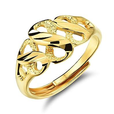 ff8f235062bb FJYOURIA - Anillo de oro de 18 quilates para mujer
