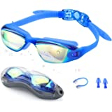 Swim Goggles,Swimming Goggles - Zerhunt Professional Anti Fog No Leaking UV Protection Wide View Swim Goggles For Women Men Adult Youth Kids