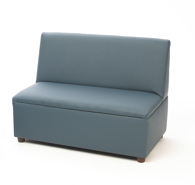 Brand New World  Modern Casual Enviro-Child Upholstery Sofa - Blue