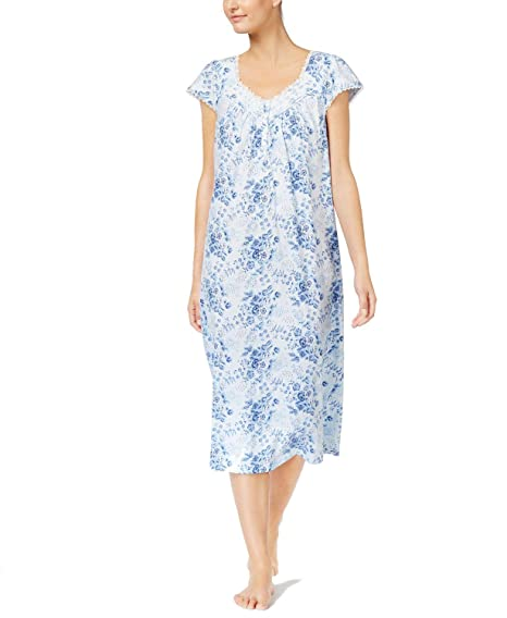 Charter Club Lace-Trimmed Printed Cotton Knit Nightgown 3f43f1251