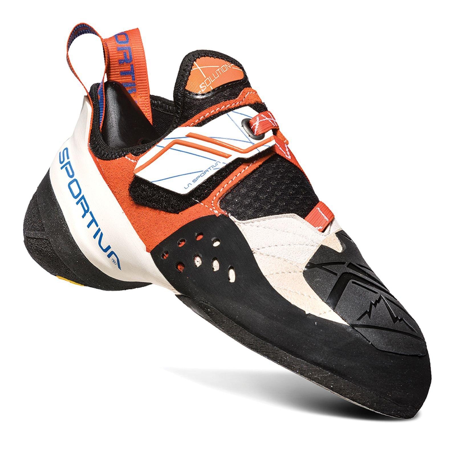 La Sportiva Women's Solution Performance Rock Climbing Shoe, White/LilyOrange, 38