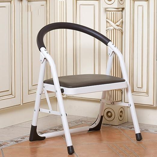 Kitchen stool Taburetes Escalera Escalera Engrosada de Madera Maciza Escalera Plegable casera de la Escala del Paso Escalera mecánica Interior de la Escalera del Pedal llevando 120kg (Color : Black): Amazon.es: Hogar