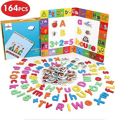 BeebeeRun Letras y números magnéticos para Niños,Juguetes Nniños 2 ...