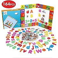 BeebeeRun Letras y números magnéticos para Niños,Juguetes Nniños