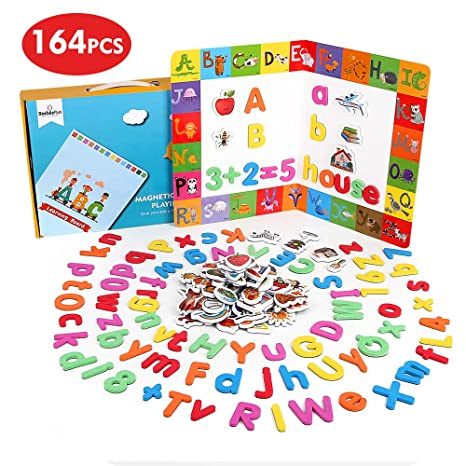 Kids Learning Teaching Magnetic Alphabet Toy Letters /& Numbers Fridge Magnets UK
