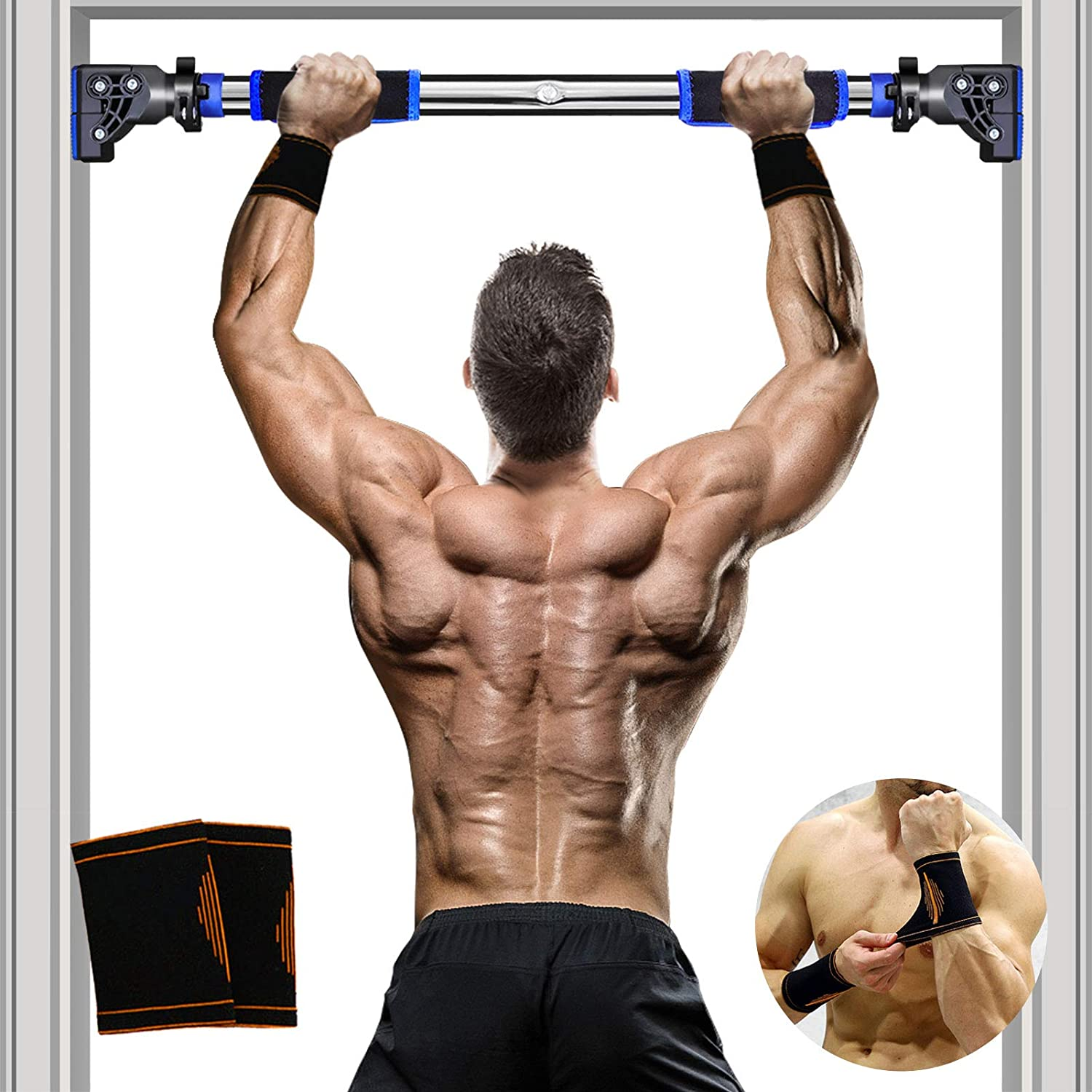 Doorway Pull Up Bar Upper Body Sit-Up Strength Body Workout Exercise Fitness Gym