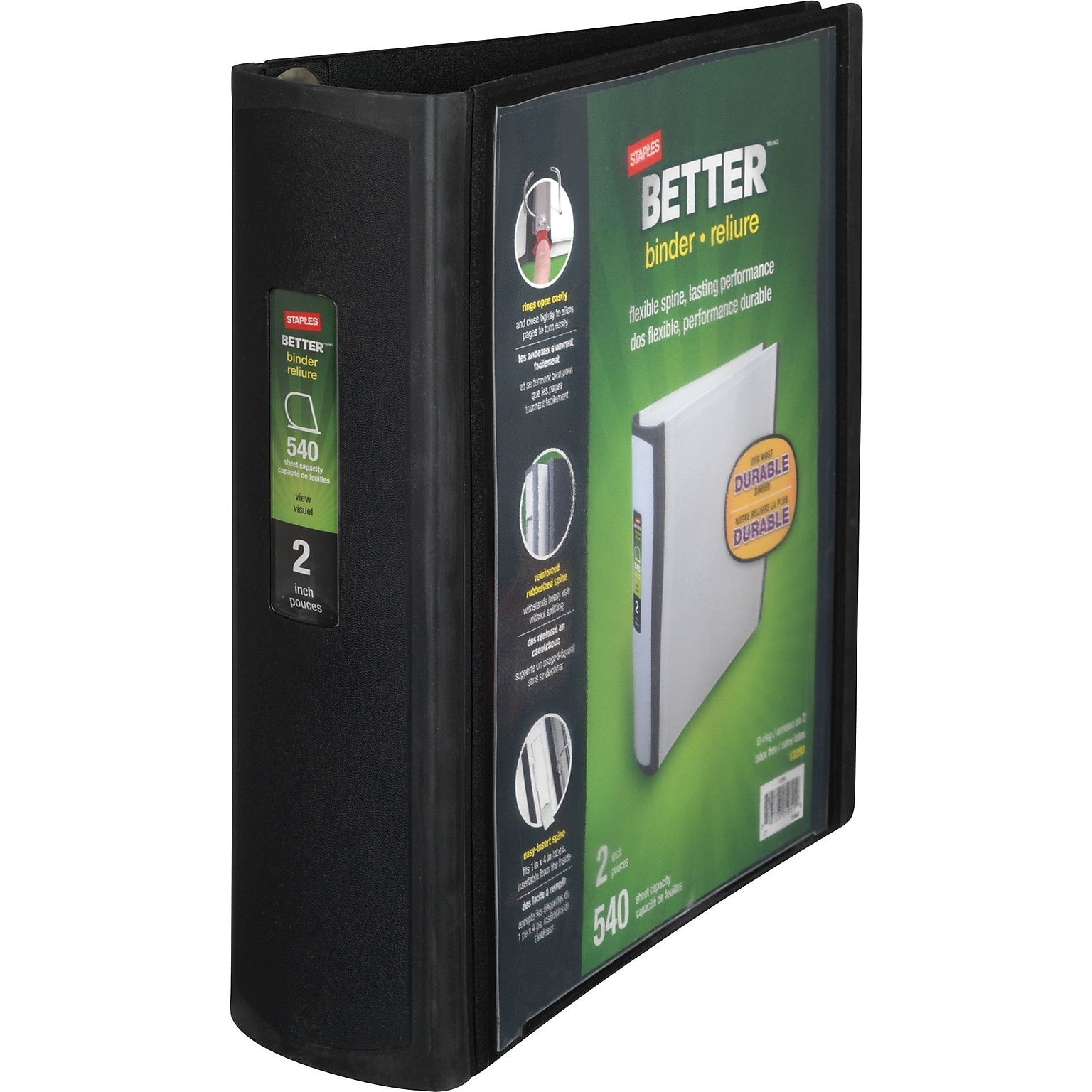 Staples Better Binder, 2-Inch, Black