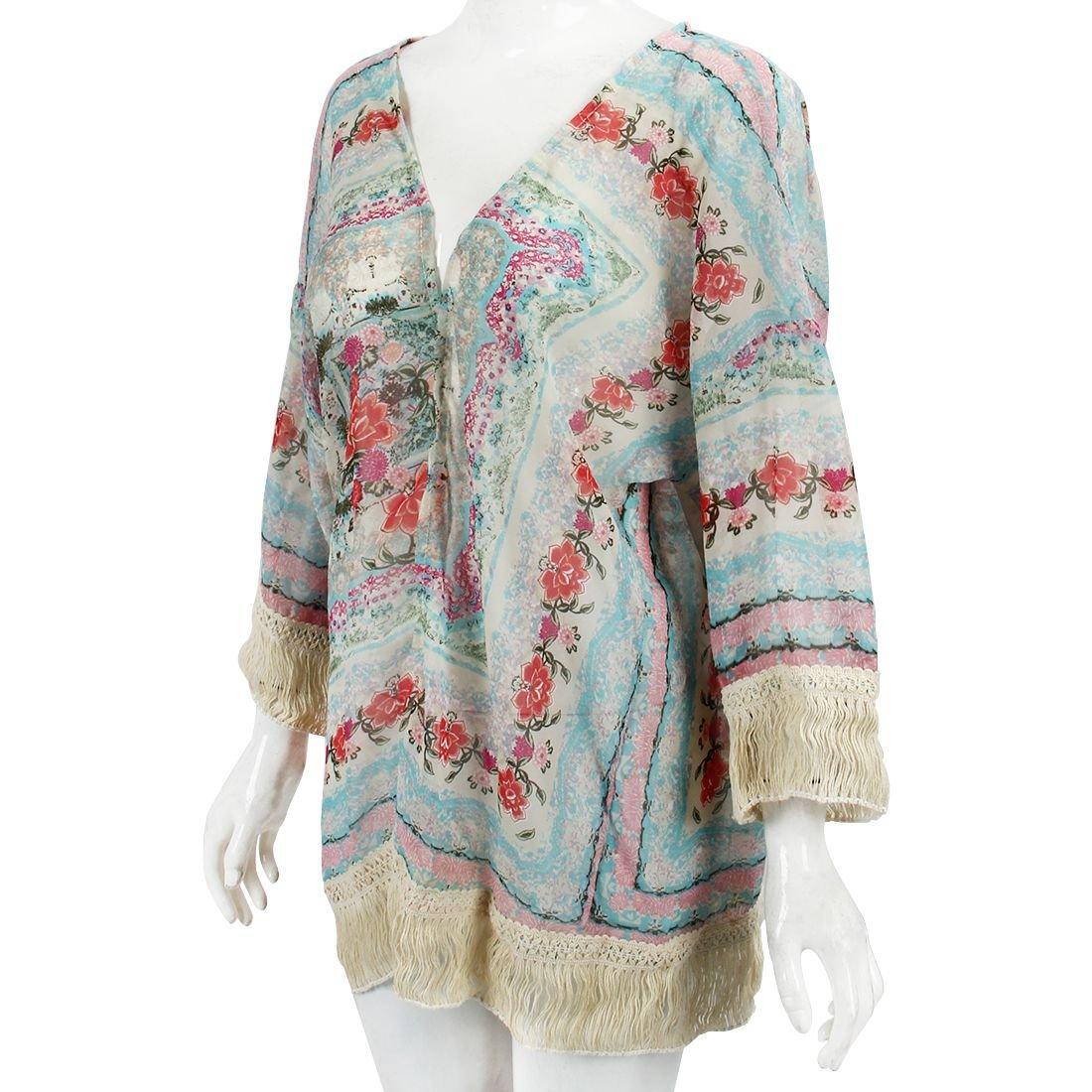 SODIAL(R) Nuevos kimonos retro de otono de moda Cardigan de senoras Blusa japonesa de gasa de manga larga para las mujeres Tops-S: Amazon.es: Ropa y ...