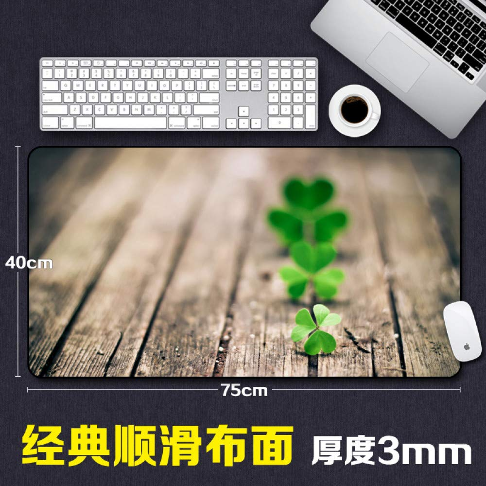 Tzsysb Patrón de de de planta de trébol alfombrilla de ratón costura teclado de juego acolchado de gran tamaño creativo tapete grande, 80x40cmx3mm e84dc4