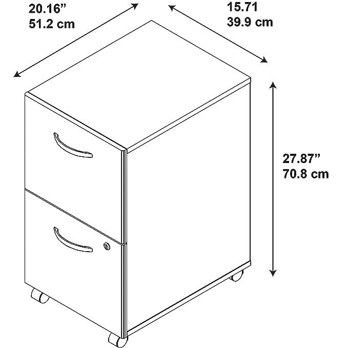 Amazon.com: Bush Business muebles Series C Elite 2 cajón ...