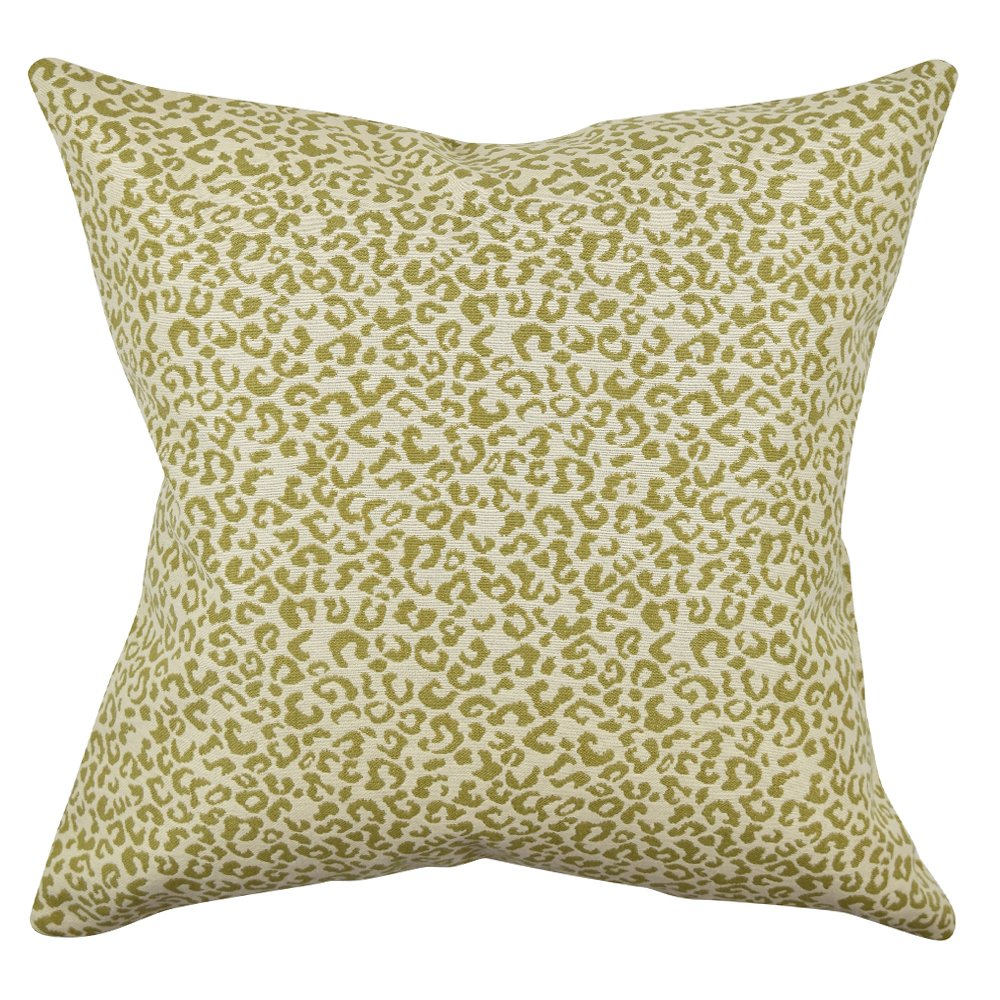 Vesper Lane AN02GRZ20I Animal Print Throw Pillow, 20 Inch, Green/Tan/Cream