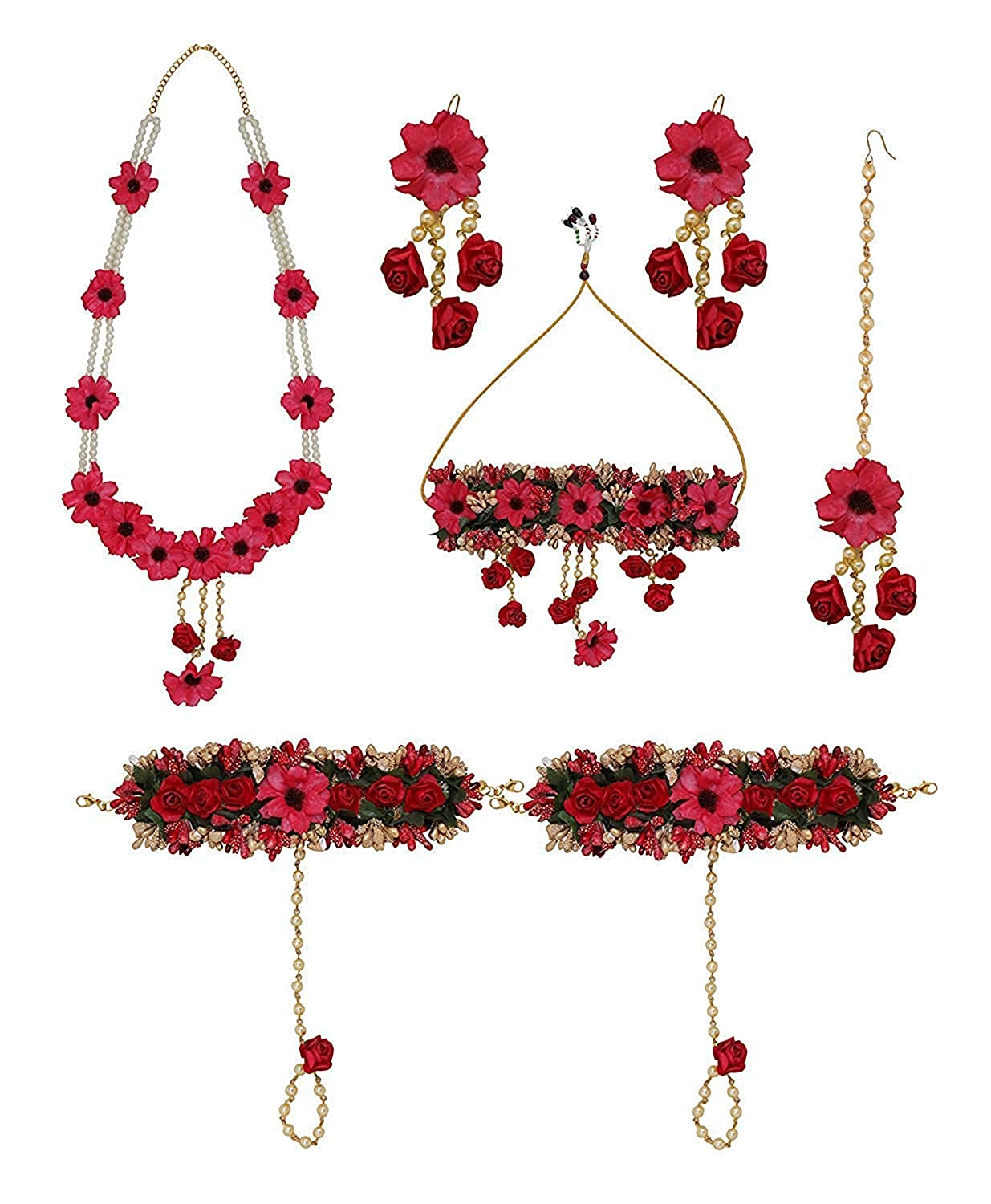 Buy Boxo Flower Jewellery Set For Baby Shower Floral Necklace