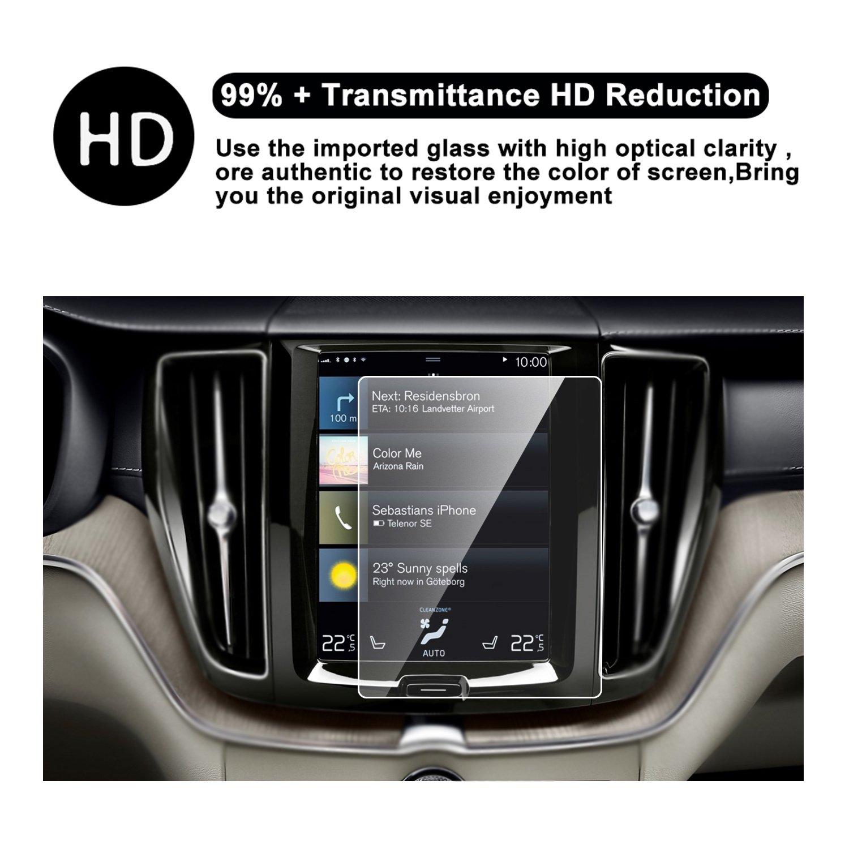 RUIYA HD Clear TEMPERED GLASS Car In-Dash Screen Protective Film 2018 Volvo XC60 Sensus Navigation System Car Navigation Screen Protector