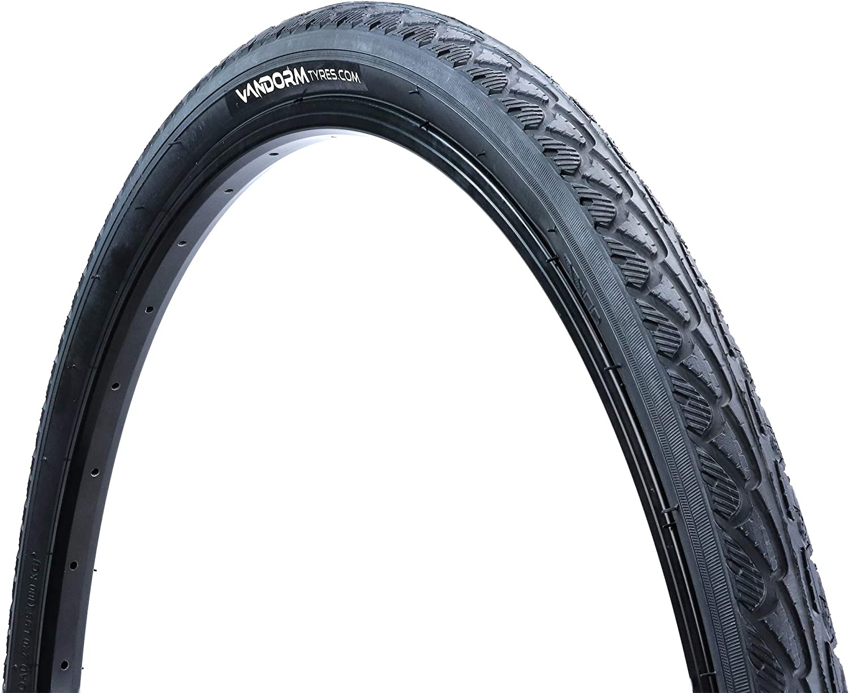 Vandorm Wide 700c Hybrid Bike Tyre 700 x 45c Express Slick City Town Tyres /& Inner Tubes