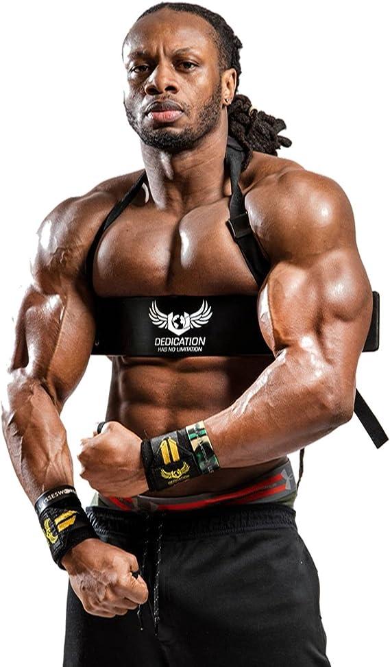 KIK FIT Gym Strap Weight Lifting Arm Blaster Bodybuilding Equipment Free UK Shipping Biceps