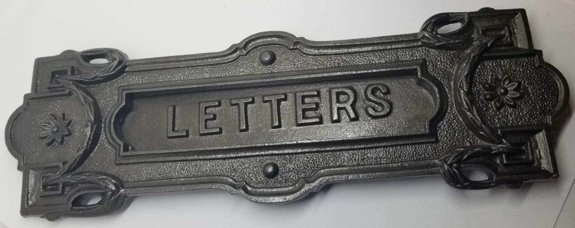 Mailbox Letter Slot Swinging Door Wall Mounted cast Iron neo Classical Antique Vintage Old Mail Postal
