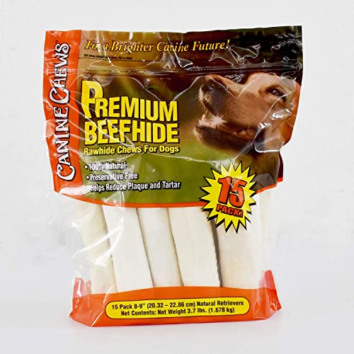 Canine Chews Premium All-Natural Beef Hide Canine Retrievers – 15 pk. – 3.7 lb.