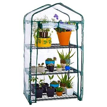 WZTO 3-Tier Mini Serre de Jardin Étagère, Serre portative Tente Abri  Couverture 27 * 19 * 49 in, Greenhouse Résistant aux Intempéries Serre ...