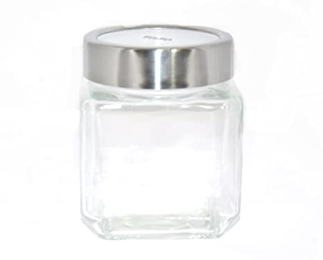 Treo Cube Jar, 580ml (EC-GWF-FGS-0027_transparent) Jars & Containers at amazon