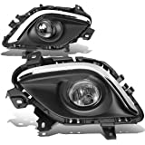 Replacement for Mazda 6 Driving Bumper Fog Light + Bezel Covers + Wiring + Switch (Chrome Trim Clear Lens) GJ1