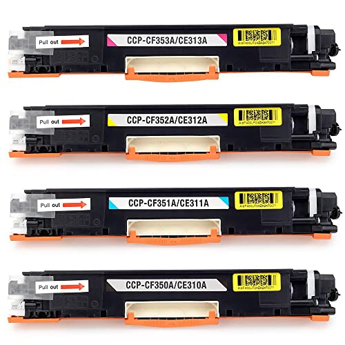 JARBO 126A CE310A CE311A CE312A CE313A Toner Cartridges Compatible for HP Colour LaserJet Pro CP1025 CP1025NW CP1020, HP LaserJet Pro 100 Color MFP M175 M175A M175NW, HP TopShot LaserJet Pro M275 M275A M275NW - Black/Cyan/Magenta/Yellow, Pack of 4
