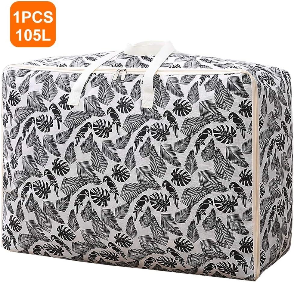 CRZJ Bolsas de lavandería Blancas de Gran Capacidad, Bolsas de Almacenamiento 70 X 50 X 30 cm Bolsas de Almacenamiento Debajo de la Cama Bolsas de lavandería Ropa con Cremalleras Organizador: Amazon.es: Hogar