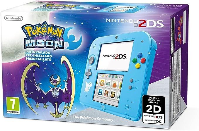 Nintendo 2DS - Consola, Color Azul + Pokémon Luna (Preinstalado ...