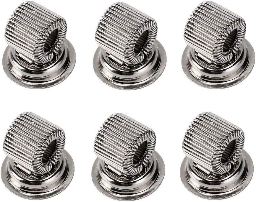6PCS Pen Magnet Holder Stainless Steel Magnetic Pen Holder for Fridge,whiteboard - Use as Magnetic Whiteboard Accessory, Marker or Pen Magnet (Silver)