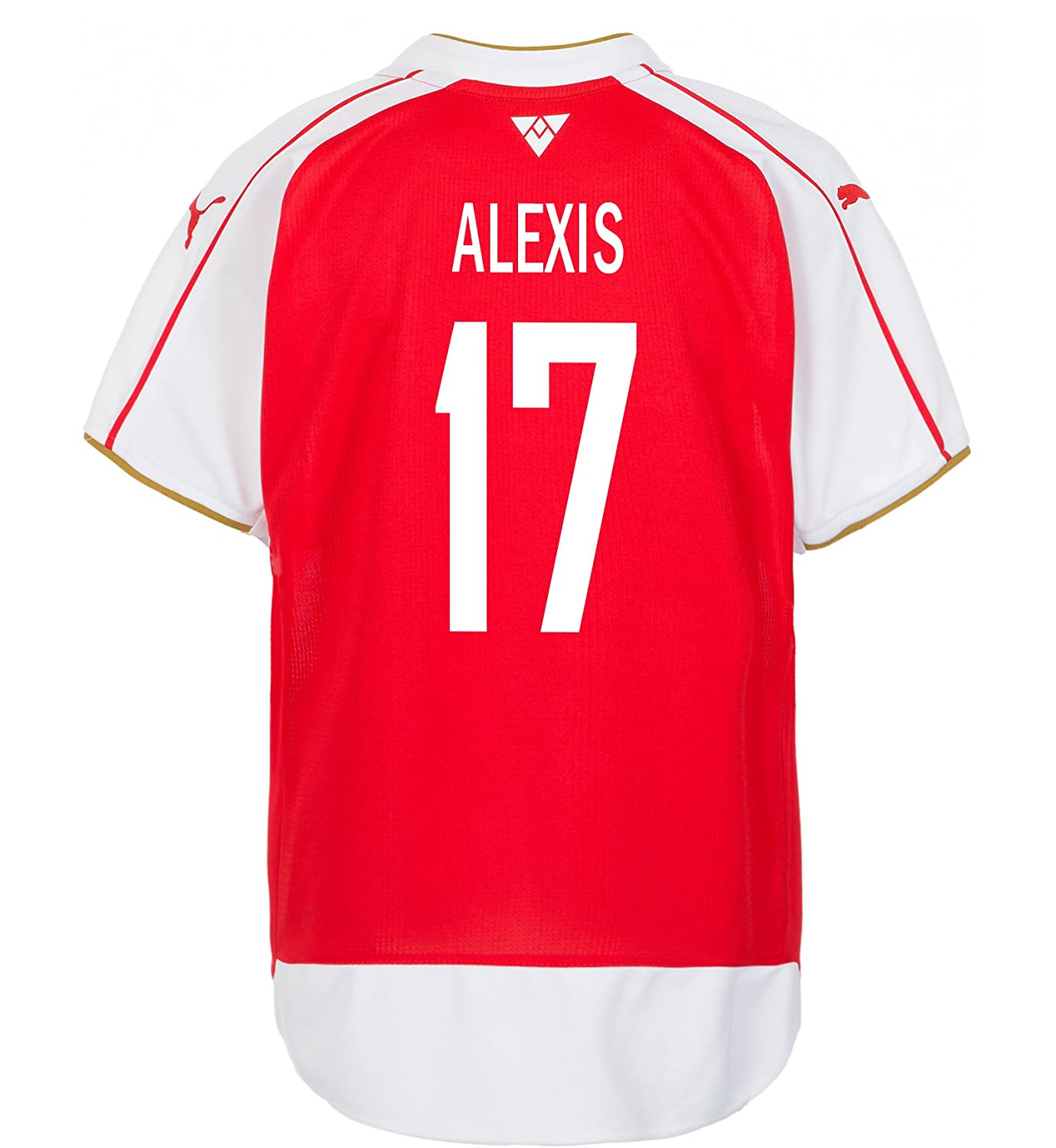 45d92c9eb Amazon.com: PUMA Alexis #17 Arsenal Home Soccer Youth Jersey 2015/2016 Red,  White: Clothing