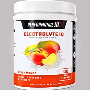 Keto Friendly Electrolyte Powder, Peach Mango, Sports Performance Hydration Drink Mix, No Added Sugar, 40 Real Servings, Energy, Non GMO, Keto Replenishment Drink, Vegan, Made in The USA