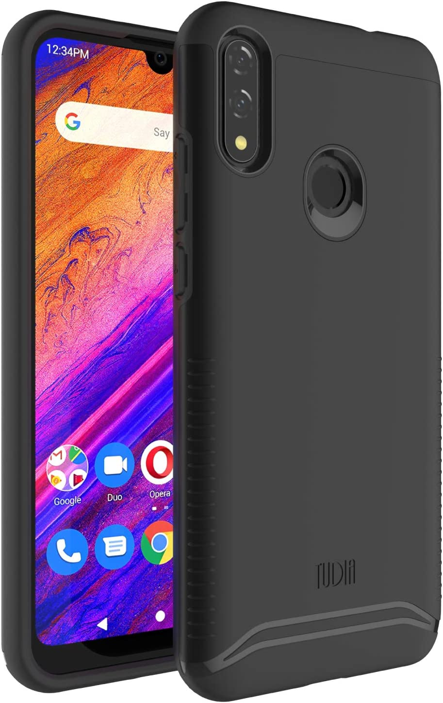 "TUDIA Merge Designed for BLU Vivo XL5-6.3"" Case (Matte Black)"